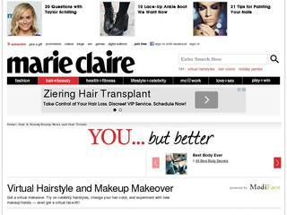 Screenshot of marieclaire