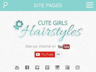 Screenshot of cutegirlshairstyles