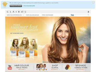 Screenshot of clairol