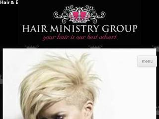 Screenshot of hairministry