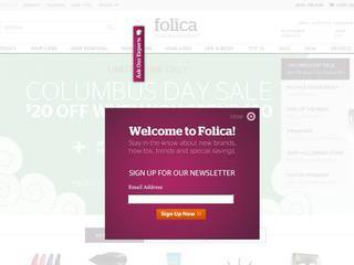 Screenshot of folica