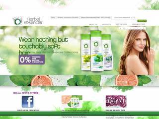 Screenshot of herbalessences