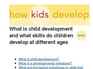 Screenshot of howkidsdevelop