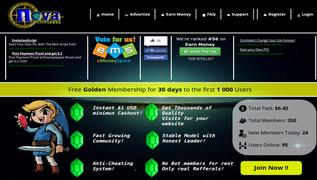 Screenshot of NovaClixs