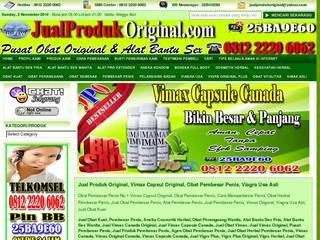Screenshot of Obat kuat , obat pembesar penis – Jual Produk Original