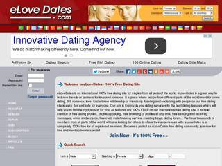 Screenshot of eLoveDates.com | 100% Free Dating Site