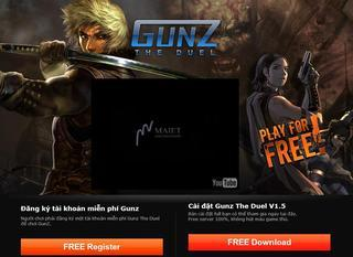 Screenshot of Gunz Asia