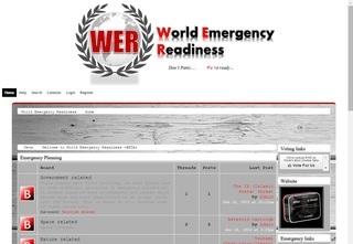 Screenshot of World Emergency Readiness