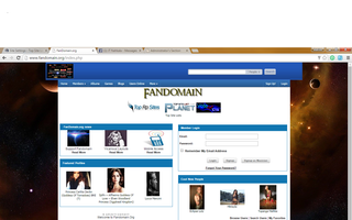 Screenshot of Fandomain