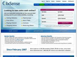 Screenshot of ClixSense - Oldest PTC Site