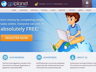 Screenshot of GPTPlanet - Legit PTC Site