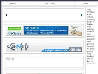 Screenshot of TOP PTC Sites