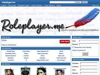 Screenshot of RolePlayer.me | Online Roleplaying Social Network