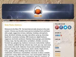 Screenshot of MarsFM
