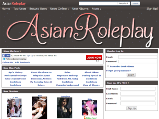 Screenshot of AsianRoleplay.com | Online Roleplaying For Fans Of All Things Asian