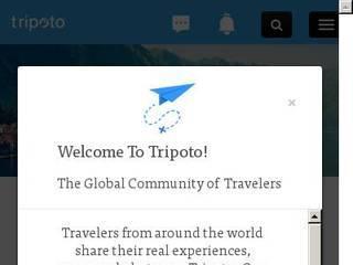 Screenshot of Tripoto