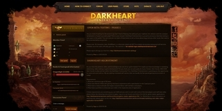 Screenshot of DarkHeart Entertainment