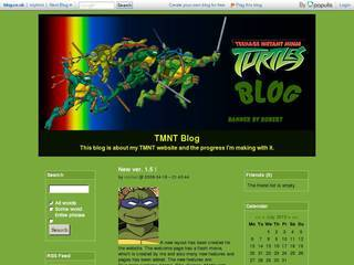 Screenshot of TMNT Blog