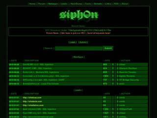 Screenshot of siph0n - Exploit / Leaks Database