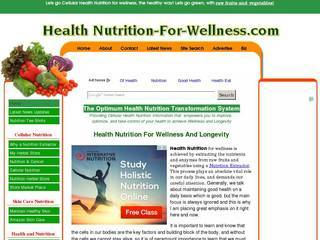 Screenshot of Health Nutrition For Wellness