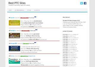 Screenshot of Best PTC Sites | Only Trusted PTC Sites Listing