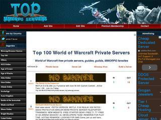 Screenshot of Top WOW Private Servers