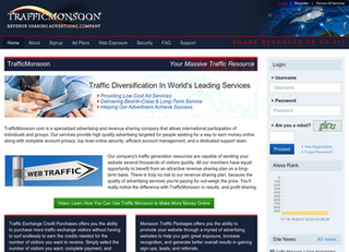 Screenshot of TrafficMonsoon - Huge Earning Opportunity