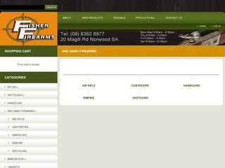 Screenshot of Used Guns Adelaide - Fisher Firearms