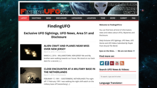Screenshot of FindingUFO.tv