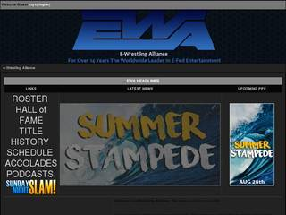 Screenshot of E-Wrestling Alliance