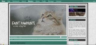 Screenshot of Faint Paw Prints