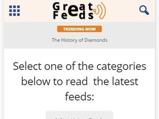 Screenshot of Great Feeds