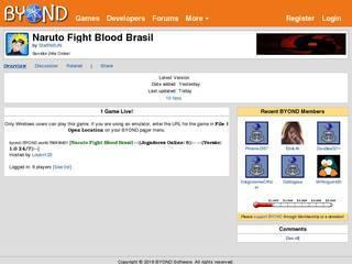 Screenshot of Naruto Fight Blood Brasil