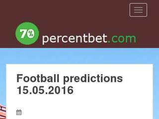 Screenshot of Football predictions and forecasts for each day