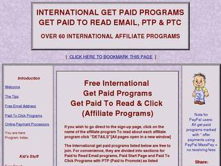 Screenshot of International Get Paid Programs