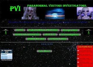 Screenshot of paranormal visitors investigators