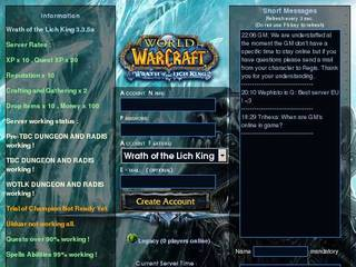 Screenshot of WoW Dark Rage 3.3.5.a