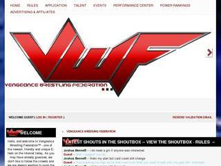 Screenshot of Vengeance Wrestling Federation