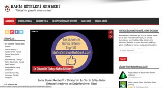 Screenshot of Bahis Siteleri