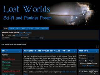 Screenshot of Lost Worlds Sci-Fi and Fanasy Forum