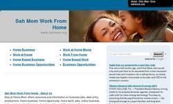 Screenshot of SAHMom.org