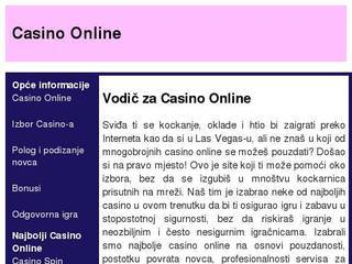 Screenshot of Casino online