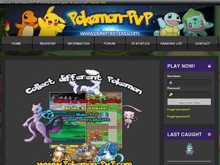 Screenshot of Pokemon PvP RPG Browser Online Game