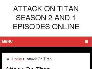 Screenshot of Watch Attack On Titan Season 2 and 1 Episodes