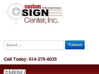 Screenshot of Custom Sign Center