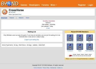 Screenshot of CrossVerse