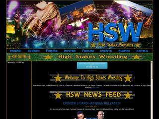 Screenshot of High Stakes Wrestling