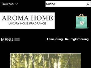 Screenshot of Aroma Home