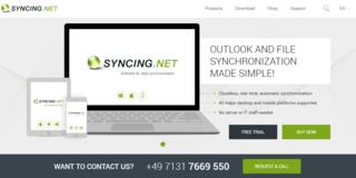 Screenshot of SYNCING.NET