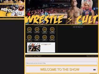 Screenshot of wrestle ⚡ cult